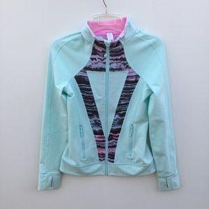 Ivivva Zip Up Jacket 14 Mint Green Blue
